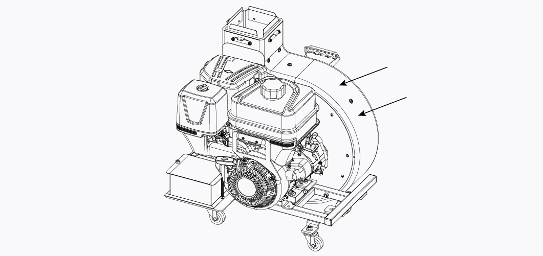 Electric Start Engine Blower Unit