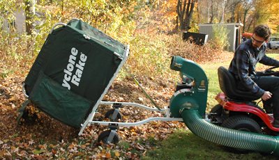 back up your leaf bagger without jackknifing