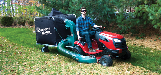 The Commercial PRO leaf collection system will pick up pine needles better than a leaf bagger on you mower.