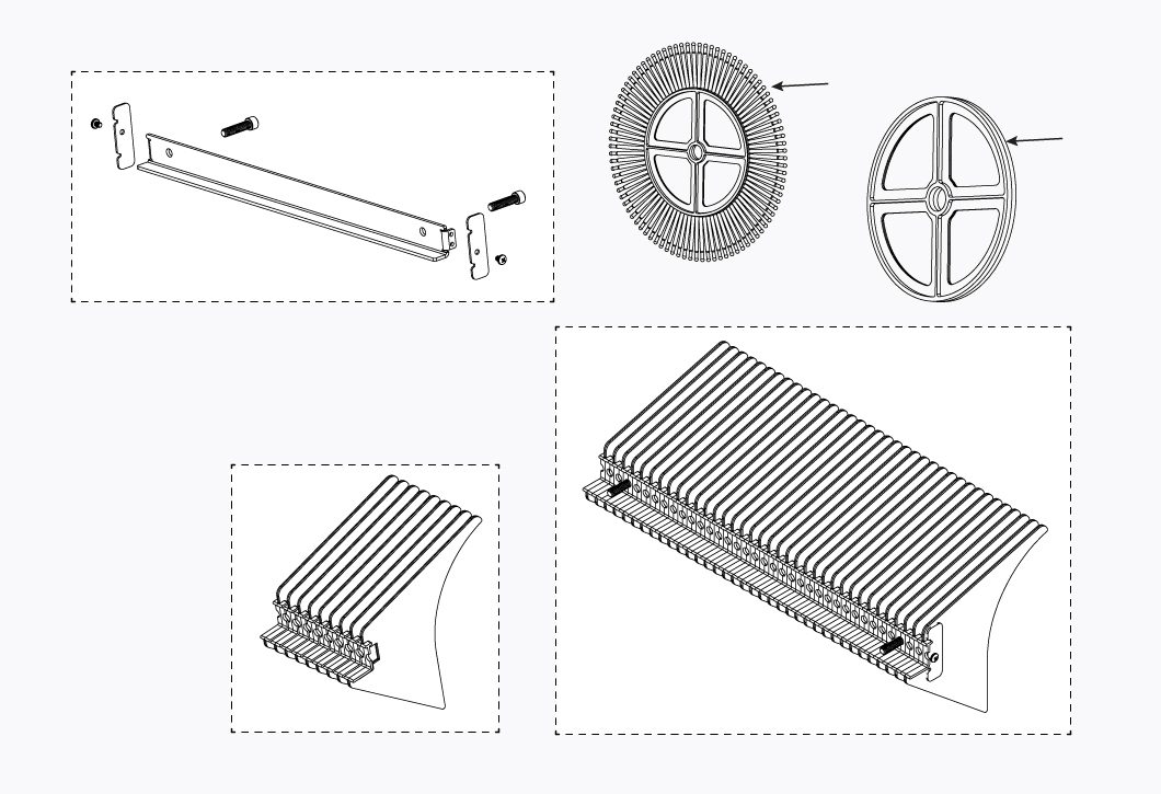 CYCLONE NUT RAKE PARTS