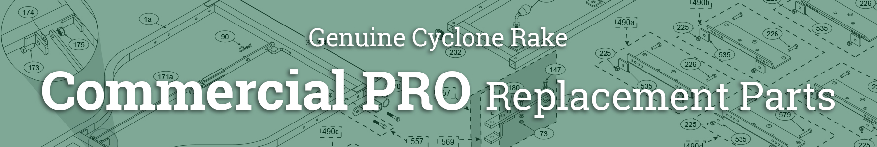 Cyclone Rake Parts for the Commercial PRO