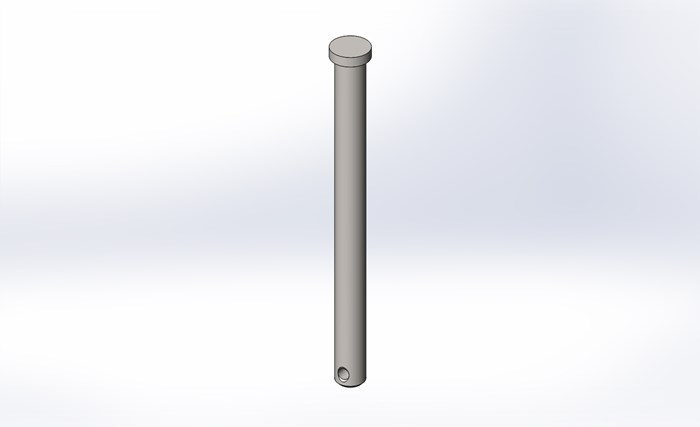 3/8 x 4 75 Clevis Pin, caster pad - Be sure to measure the length of the  pin  The standard length is 5 inch  If the pin is longer than 5 inch,  please
