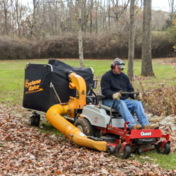 For the best commercial leaf removal equipment, choose the XL and attach it to an ExMark-Quest. You'll clear acres of leaves and other debris.