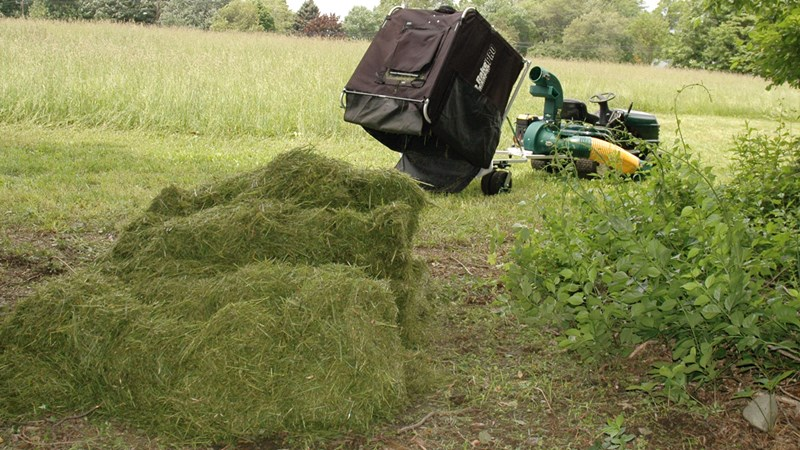 Collect all your grass in this huge grass bagger