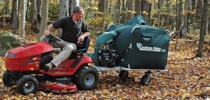 If you find a used tow behind leaf vacuum for sale, make sure it never jackknives when backing up.