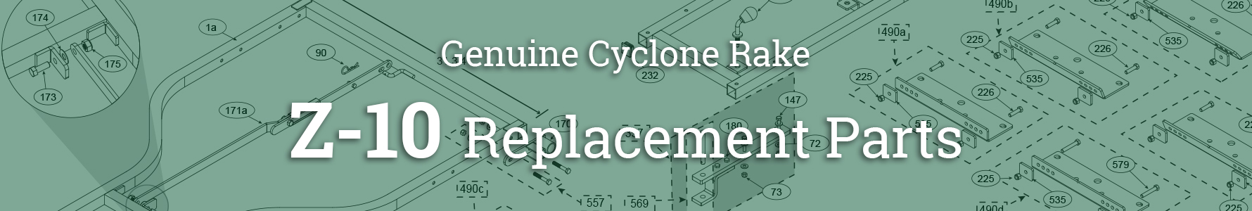 Cyclone Rake Parts for the Z-10  large lawn vacuum